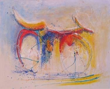 "Saatchi Art Artist Doris Duschelbauer; Painting, ""BICICLO (SOLD)"" #art"