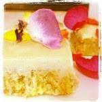 Raw Lemon Saffron Tea Cake with Tangy Cashew Icing #artofplating