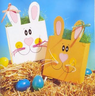 bunny box - spring/Easter paper craft pattern