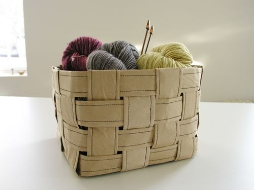 paper basketCrafts Ideas, Brown Paper, Recycle Paper, Sewing 101, Paper Bags, Paper, Design Sponge, Paper Baskets