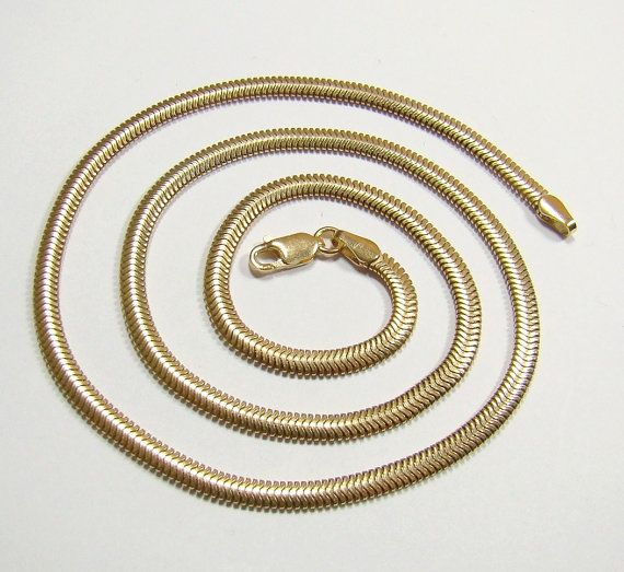 FLAT SNAKE 3.3 .mm chain gold plated  chain  by DawidPandel, zł80.00