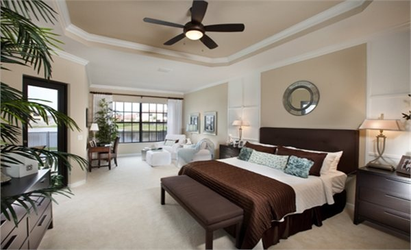 Luxurious Master Bedroom With Sitting Area From Lennar