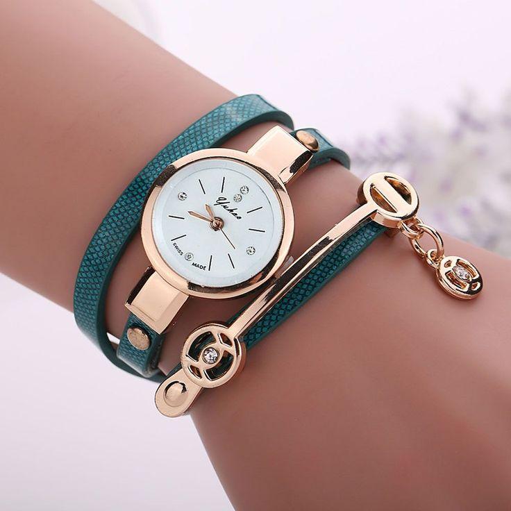 Fantastc relogio masculino Leather Strap Bracelet watch women Watches Ladies Quartz Wristwatch Relogio