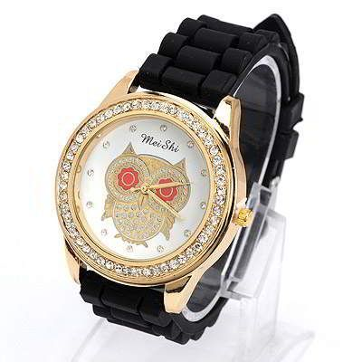 Diamond Decorated Owl Pattern Design Black. Fashionable with passion REPIN if you like it.😊 Only 107 IDR