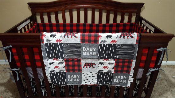 Baby Boy Crib Bedding  Baby Bear Black Arrows by DesignsbyChristyS