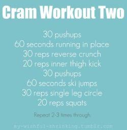 CRam Workout 2: Work Outs, Workout Motivation, Shorts Workout, Mornings Workout, Exercise Workout, Workout Ideas, Minis Workout, At Home Workout, Cram Workout