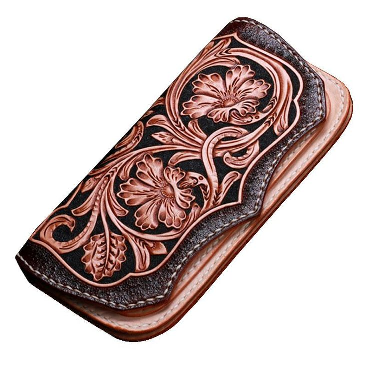 Overview: Design: Handmade Leather Mens Tooled Floral Clutch Wallet Cool Wallet Long Wallets for Men WomenIn Stock:  Ready to Ship (2-4 days)Include: Only Walle