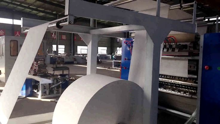V fold facial tissue paper making machine tissue paper folding machine t...