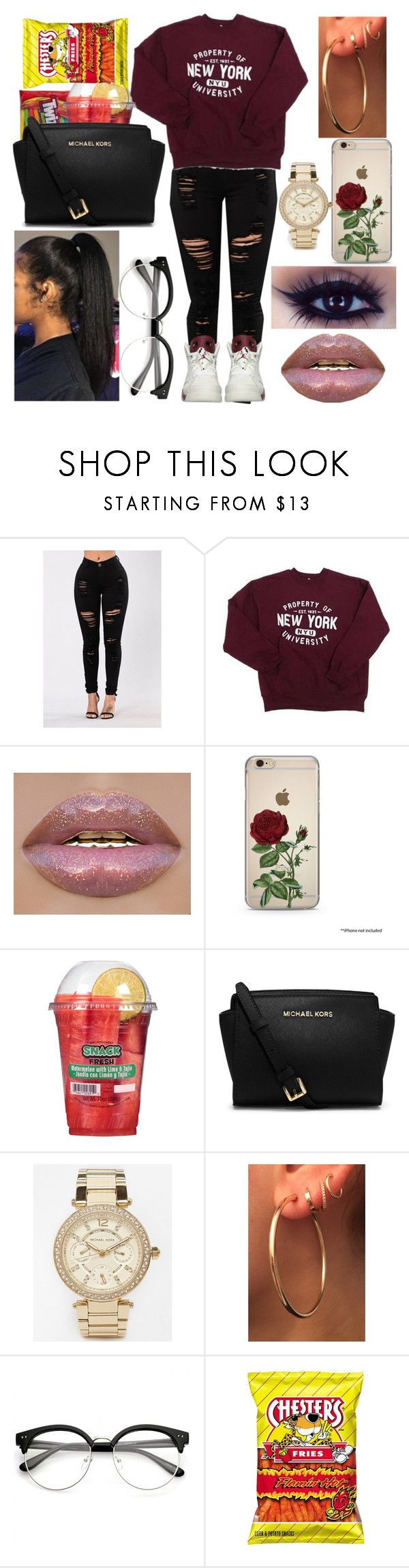 """Untitled #477"" by xgrunge-princessx ❤ liked on Polyvore featuring NIKE, MICHAEL Michael Kors and Michael Kors"