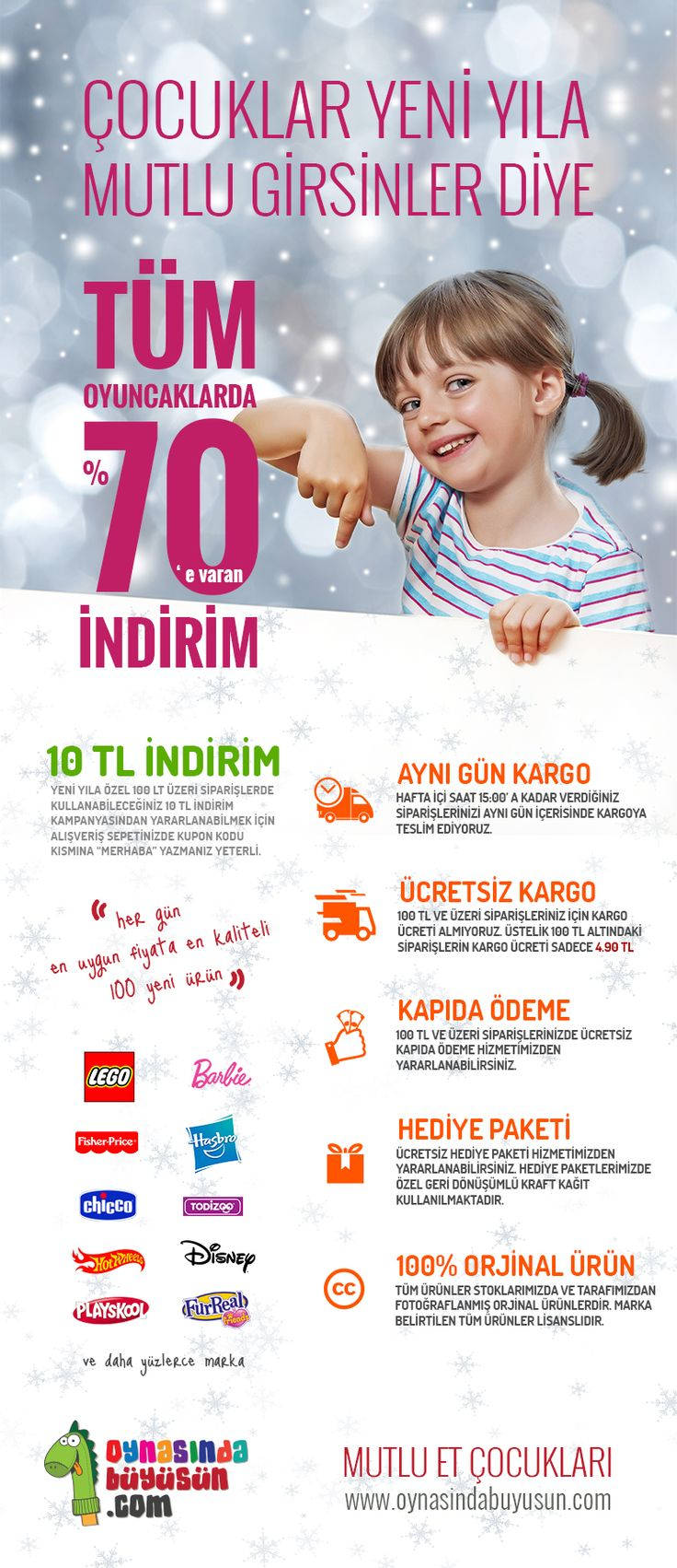 Çocuklar Yeni Yıla Mutlu Girsinler Diye Tüm Oyuncaklarda % 70 ' e varan İNDİRİM www.oynasindabuyusun.com