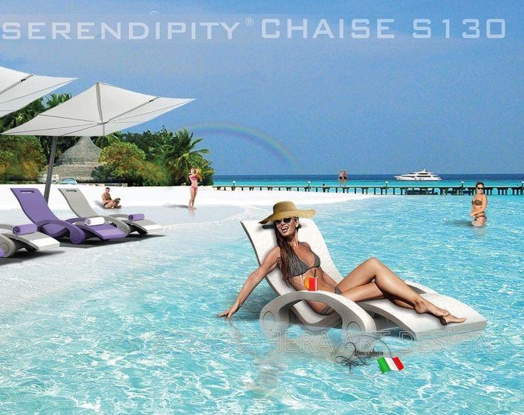Lettino galleggiante prendisole relax SERENDIPITY CHAISE giardino piscina casa