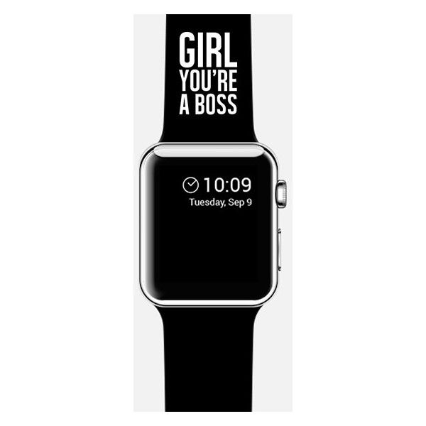 Apple Watch Band - GIRL. YOU'RE A LOVELY BOSS. (1,180 MXN) ❤ liked on Polyvore featuring jewelry, watches, apple watch and apple watches