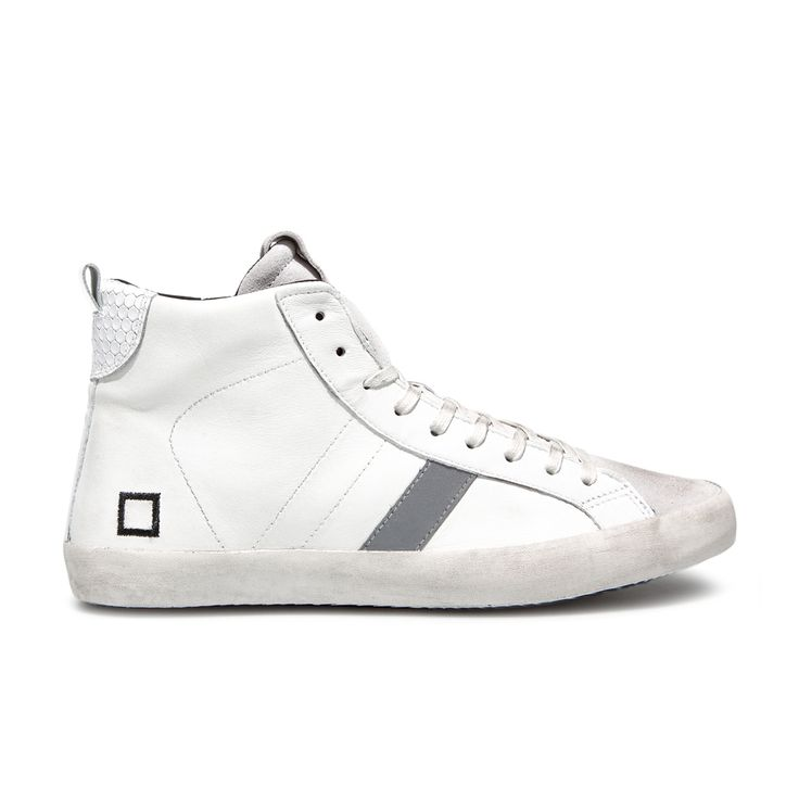 D.A.T.E. Fall Winter 2015-16 // Hill High Nappa White. Shop at:http://bit.ly/1N6GvBf #datesneakers