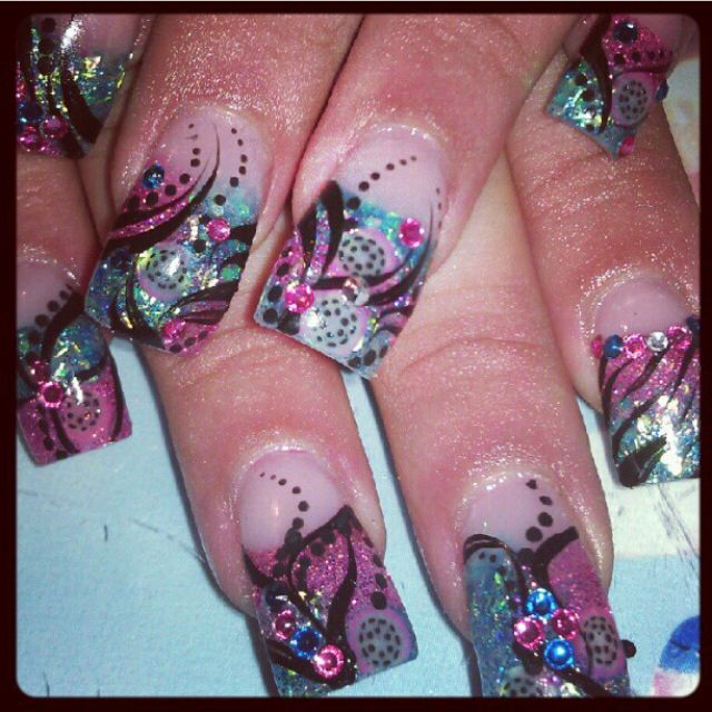 Acrylic nails by Marcy