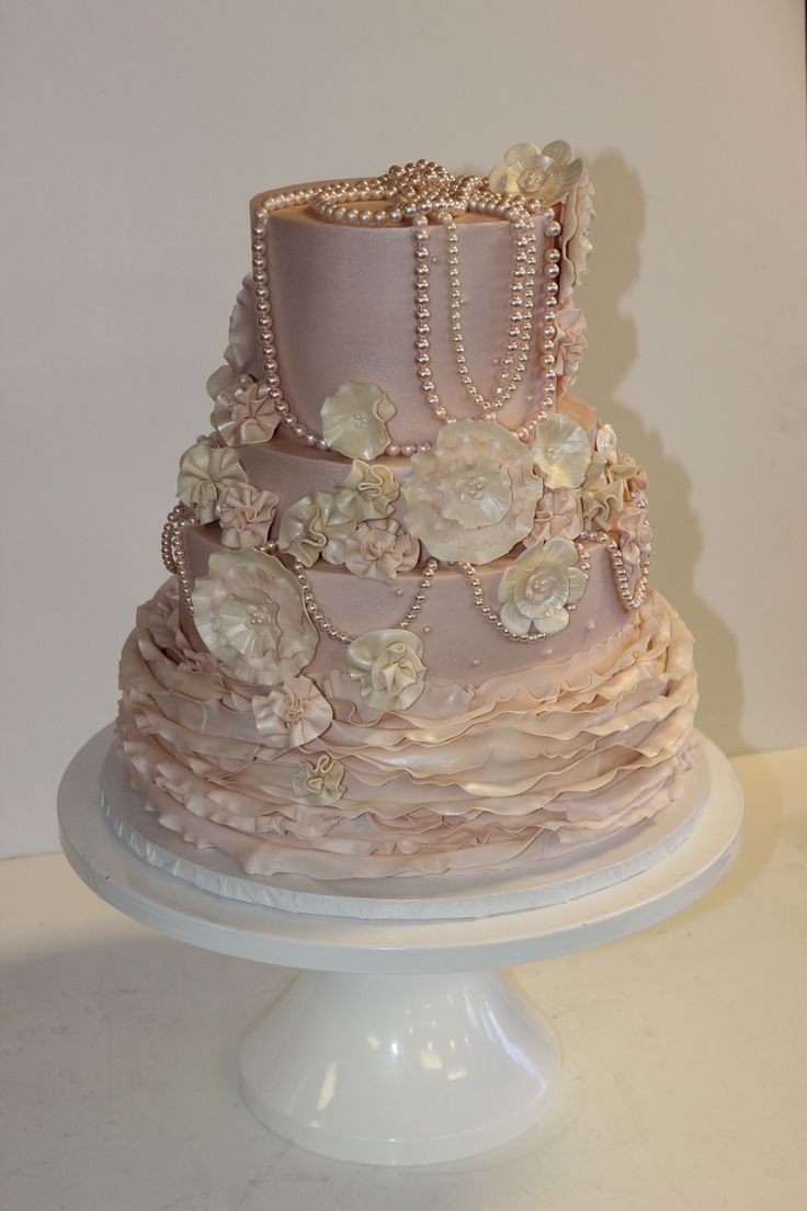 shabby chic bridal shower cakes%0A  Wedding  cake from Sweet Treets Bakery in  ATX  https       Shabby Chic