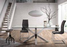 Tavoli Sala da Pranzo : collezione ARYA Piede acciaio