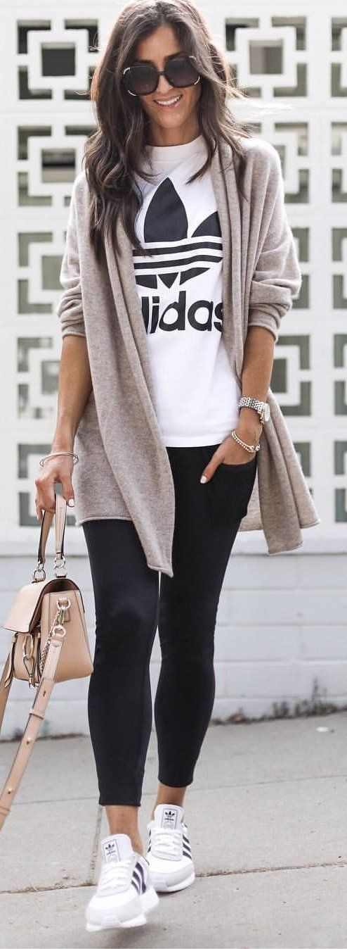 #Summer #Outfits gray cardigan for women.