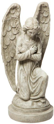 Alfresco Home Kneeling Angel Statuary, Antique Granite by Alfresco Home. $230.99. Dimensions: 15-1/4 l by 14 w by 31 h. Combination of fiberglass and stone fibers creates a fine texture finish. Made of durable fiberstone blend. Grace any garden with charm and reverence. Finished in rich pantina color. Alfresco Home is a wholesale designer of a fresh new line of original interior and exterior home and garden accents. The Alfresco Lite Devotional Statuary Collectio...