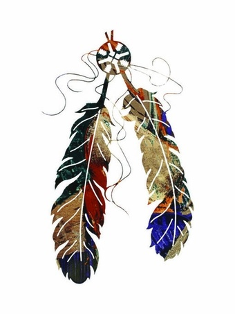 Two Native American Tribal Feathers