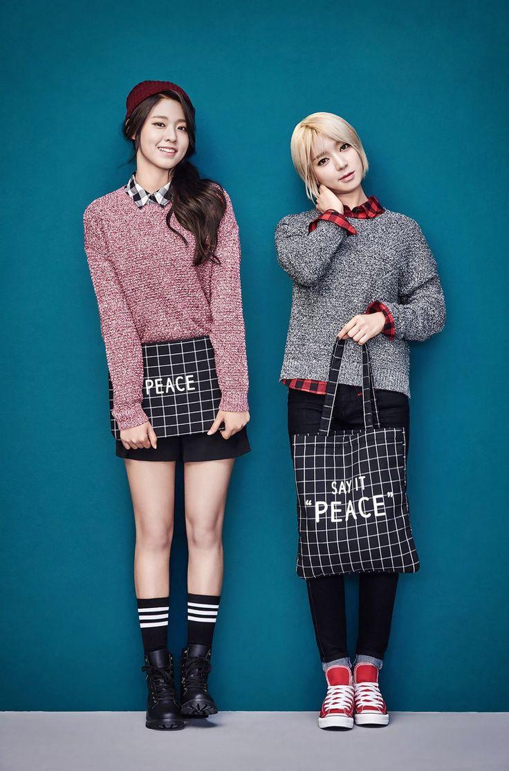 AOA Seol Hyun and Choa - SPAO 2015