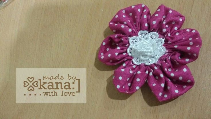 Pink polka applique by kana