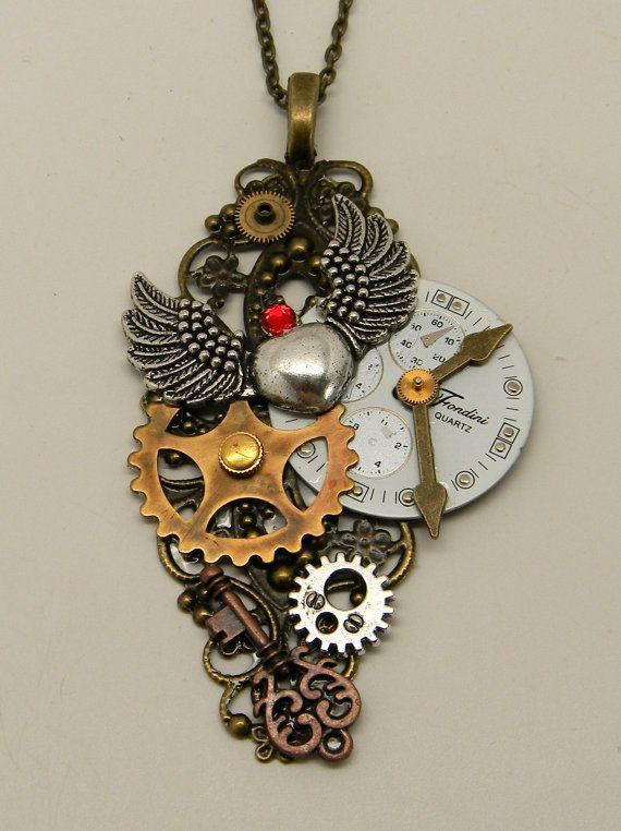 Steampunk Schmuck. Steampunk Anhänger Halskette. von slotzkin