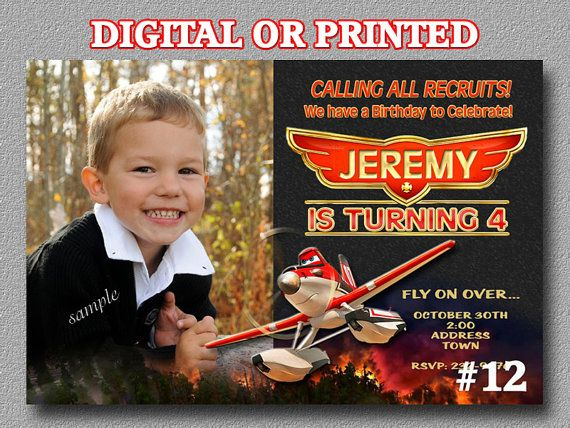 Disney Planes Fire and Rescue Invitation YOU by LetsPartyShoppe