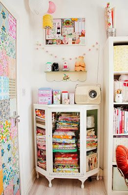 CRAFTY STORAGE: Heart Handmade Uk Craft Room Tour, Adore this idea. nainis