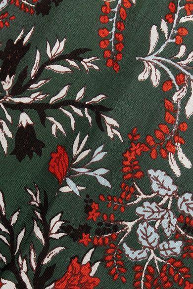 Maje - Floral-print Crepe Jumpsuit - Emerald - FR38
