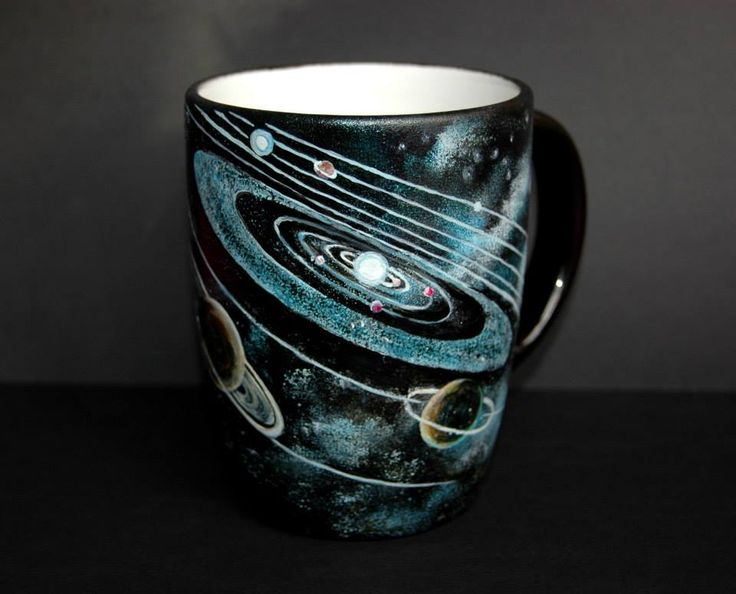 galaktyki - ręcznie malowany kubek artist: Edyta Muszelik
