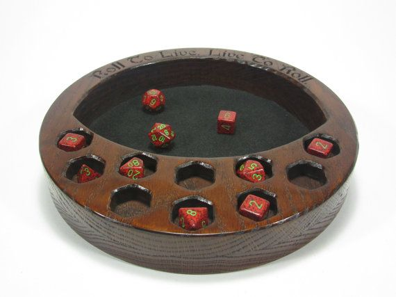 The Crescent Dice Tray W/Dice Display Dice Tray by MythicMakings