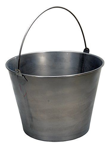 "Vestil BKT-SS-500 Stainless Steel Bucket, 11"" Depth, 5 gallon, 57 pound Capacity >>> You can find out more details at the link of the image."