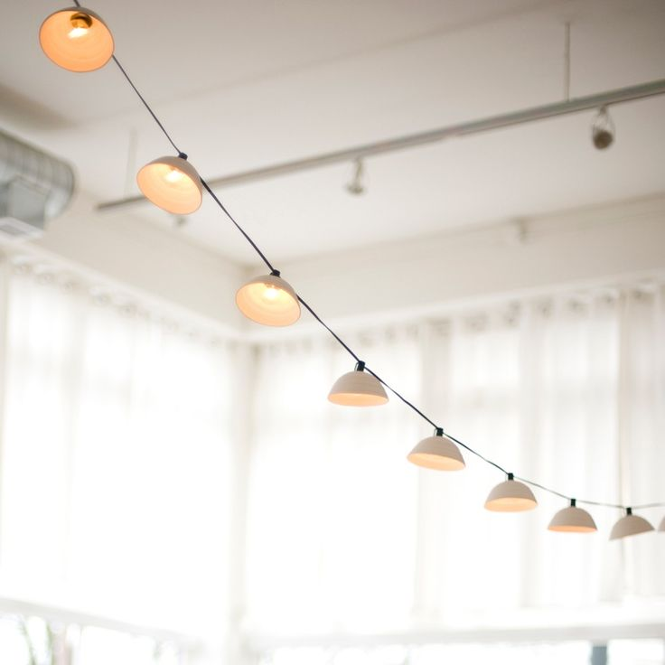 Pleated String Lights from Pigeon Toe Ceramics on Etsy.