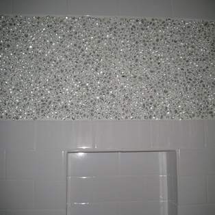 1000 images about bathroom redo on pinterest glass - Recycled glass tiles bathroom ...