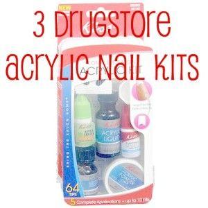 3 Drugstore Acrylic Nail Kits