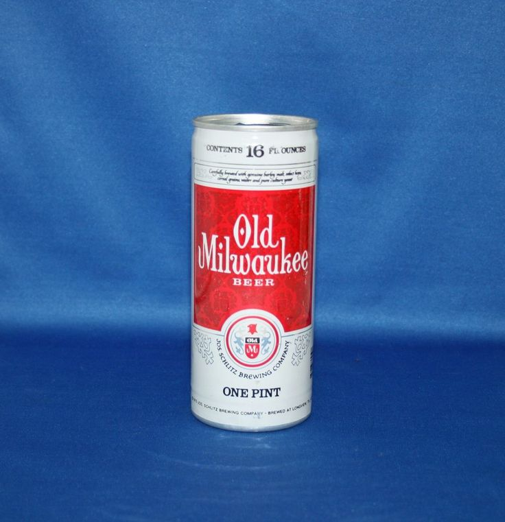 Old Milwaukee Beer Aluminum Pull Tab Can Schlitz Brewing Co 1975 Empty Opened #OldMilwaukeeBeer