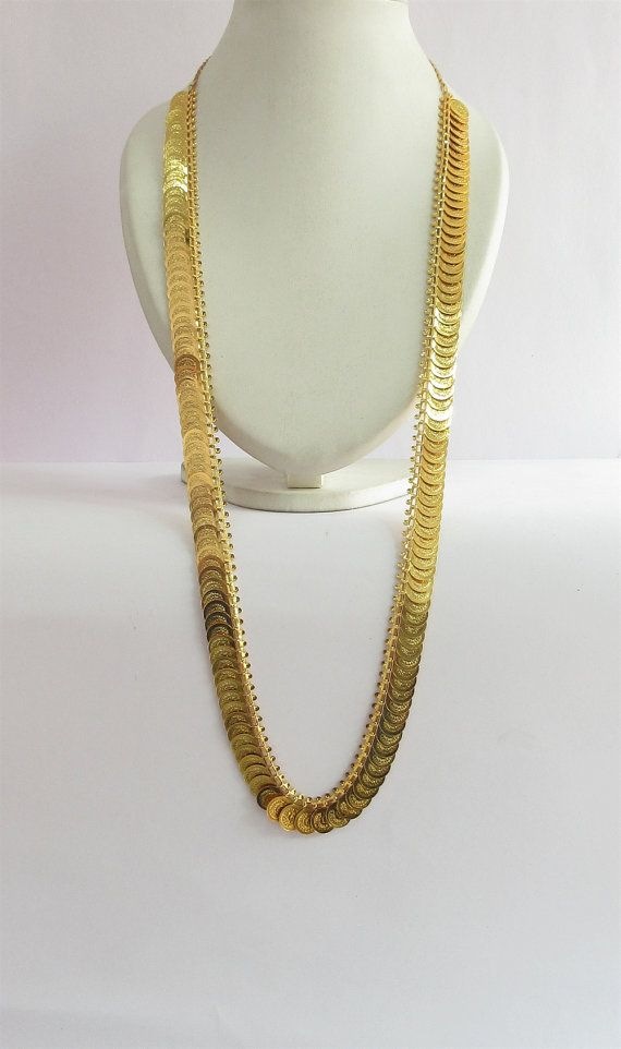 Gold South Indian Temple Jewelry Necklace/Coin by Beauteshoppe