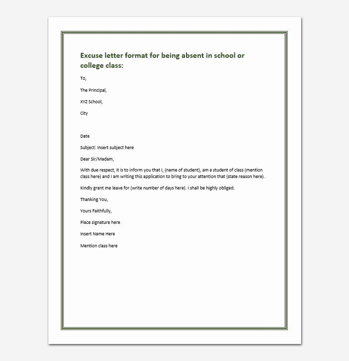 40 Absent Letter For School In 2020 Lettering Business Letter