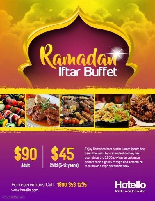 ramadan iftar buffet dinner flyer template ramadan flyer template