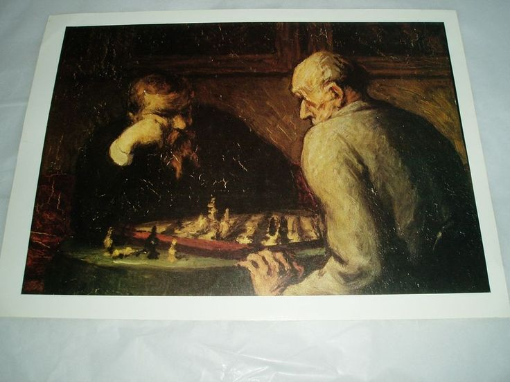 art print poster Honore Daumir The Chess Players 1863 #Impressionism