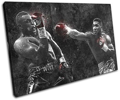 Anthony joshua #boxing #grunge sports single canvas wall art picture #print,  View more on the LINK: http://www.zeppy.io/product/gb/2/331914934575/