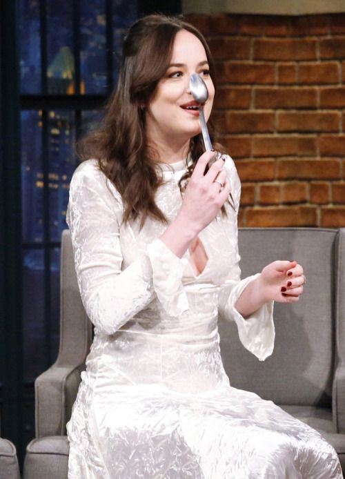 Dakota Johnson on the Late Night with Seth Meyers in NYC - 1 February 2017 Click on for more Darker or US Press Tour info, TV Shows & Appearances lovefiftyshades.com | twitter | instagram | pinterest | youtube