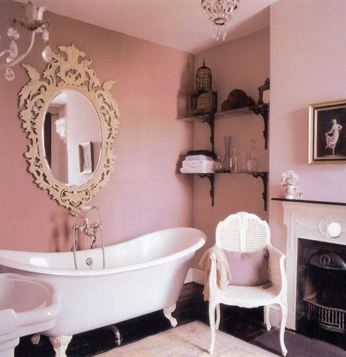Love the mirror...  http://dorsi.hubpages.com/hub/Decorating-a-Shabby-Chic-Bathroom-French-Country-Style