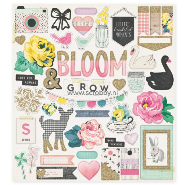 Crate Paper Maggie Holmes Bloom Chipboard Stickers