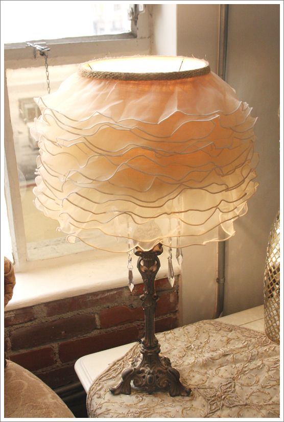 I will be making this lamp shade soon..I have perusing for a romantic idea for my art space.  LOVE it!!!!