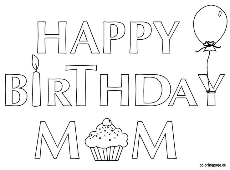 Colouring Pages H Y Birthday : 117 best happy birthday images on pinterest