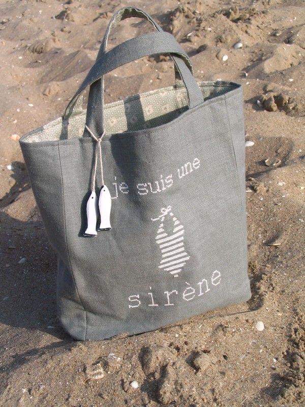 sac de plage | beach bag | I am a siren | french