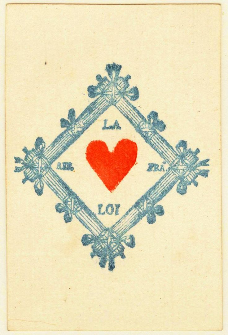 Entertainment – Playing card – Ace of Hearts – French Vintage playing card. Ace of hearts. French printing. Via Yale U.