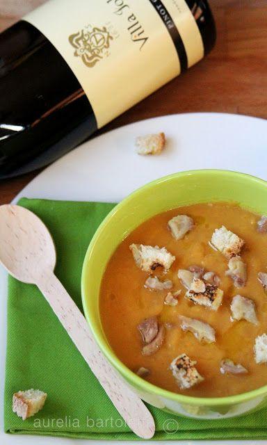 zuppa di zucca, patate e castagne