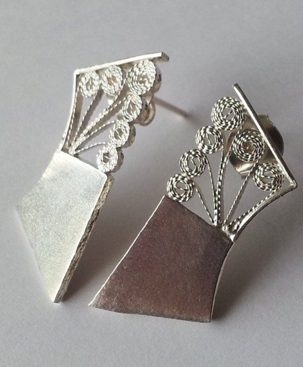 handmade silver filigree earrings - best fair trade jewellery